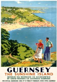 Guernsey, British Island, Great Western & Southern Railway Travel Poster Print